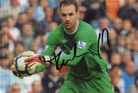 Marton Fulop, Manchester City, signed 6x4 inch photo.
